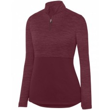 2909 Ladies' Shadow Tonal Heather 1/4 Zip Pullover - Augusta Drop Ship Womens Sweatshirts