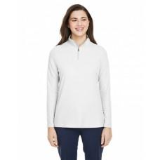 CE405W Ladies' Fusion ChromaSoft™ Pique Quarter-Zip - Core 365 Womens Sweatshirts