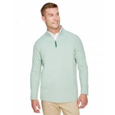 DG480 CrownLux Performance™ Men's Clubhouse Micro-Stripe Quarter-Zip - Devon & Jones Mens Sweatshirts