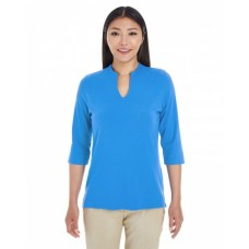 DP188W Ladies' Perfect Fit™ Tailored Open Neckline Top - Devon & Jones Womens Sweatshirts