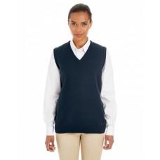 M415W Ladies' Pilbloc™ V-Neck Sweater Vest - Harriton Womens Vests